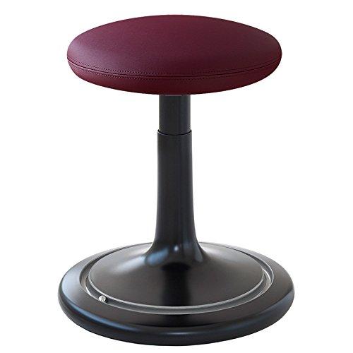 Ongo Sitz- und Stehhocker Classic regular 42-64cm skai nature base weiß/lila/silber