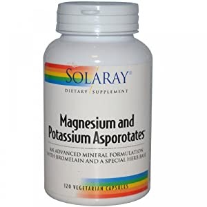 Magnesium and Potassium Asporotate Solaray 120 Caps
