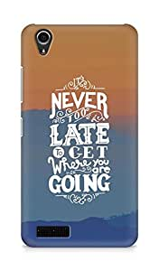 AMEZ never to late to reach where you are going Back Cover For Lenovo A3900