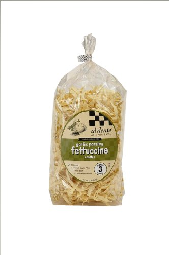 Al Dente Garlic Parsley Fettuccine, 12-Ounce Bag (Pack Of 6)