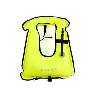 Adultos inflables vida chaleco chaqueta ideal para el Snorkeling Surf Natación Canotaje Kayak pesca Rafting y flotante, asegurar sus actividades de seguridad de agua