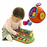 Dazzling Cleva Piano and ABC Shape Sorter Set - Cleva Edition ChildSAFE Door Stopz Bundle