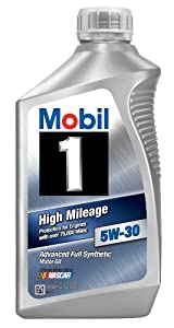 Mobil 1 45000 5W-30 High Mileage Motor Oil - 1 Quart (Pack of 6)