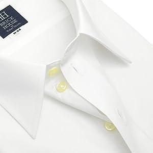 BRICK HOUSE 長袖 ワイシャツ 形態安定 レギュラー 白無地 ブロード BM01X901AB12R1A-96