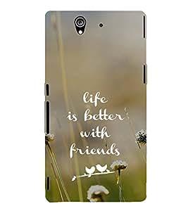 EPICCASE Friends make life Mobile Back Case Cover For Sony Xperia Z (Designer Case)
