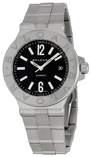 Bvlgari Men's BVLDG40BSSD Diagono Black Dial Watch