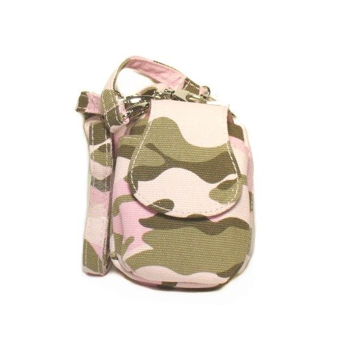 Pink Camouflage Cell Phone Purse Plus with Adjustable Shoulder Strap