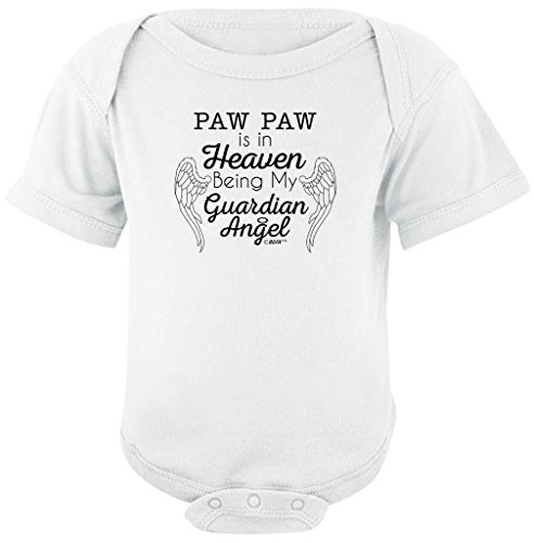 Baby Gifts For All Paw Paw in Heaven Being Guardian Angel Bodysuit
