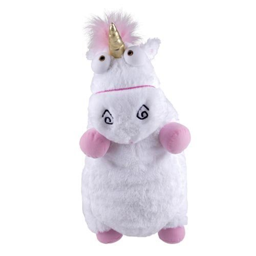 """ADS Universal Despicable Me 3D Ride Agnes Fluffy Unicorn Pillow Plush Large 22"""" Size NEW by Avner-Toys"""