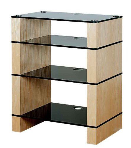 Cheap BLOK STAX DeLuxe 400 Four Shelf Ash Hifi Audio Stand & AV TV Furniture Rack Unit (B008AHJ3IK)