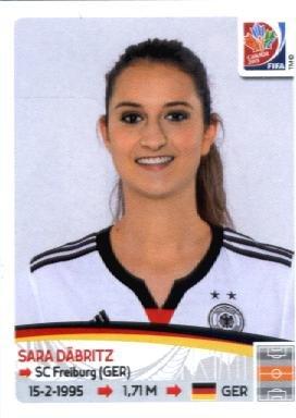 2015 Panini Women's World Cup Sticker #109 Sara Däbritz TEAM