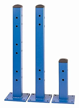 "Lyon TB40000 Single Rail Column Post, 18"" Height, Blue"