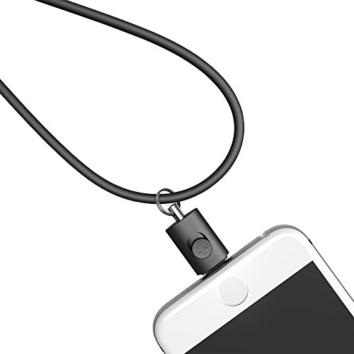Simplism Lightningコネクター用ネックストラップ ブラック  TR-LSI-BK