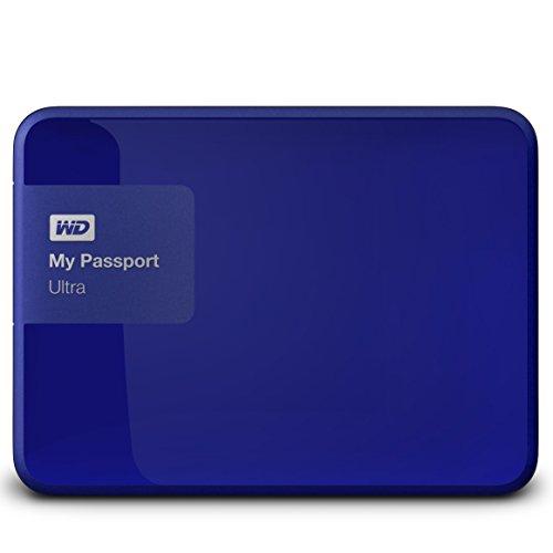 WD HDD ポータブル ハードディスク 3TB USB3.0 My Passport Ultra WDBBKD0030BBL-PESN ブルー / 暗号化 パスワード保護 / 3年保証