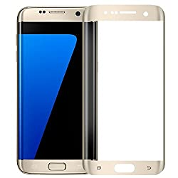 Zocardo Full Curved Edge Screen Protector Tempered Glass for Samsung Galaxy S7 Edge [Edge to Edge] (Gold)