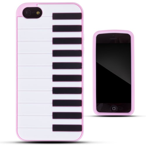 Zooky® Pink Silicone Piano Case / Cover / Shell For Iphone 5/5S