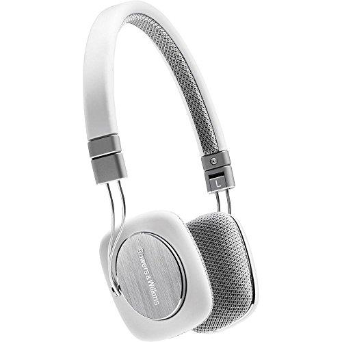 Bowers & Wilkins P3 Recertified Headphones, White/Grey