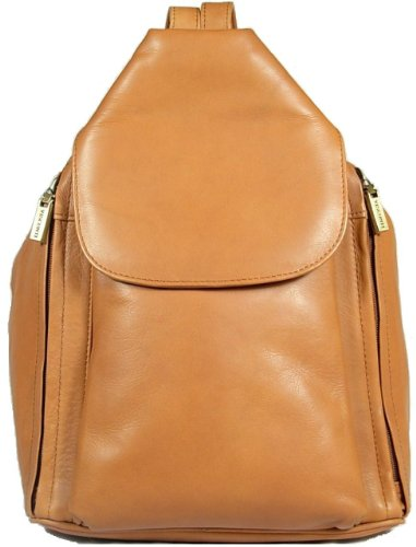 New girls/ladies gorgeous Visconti tan/sand soft leather backpack bag style 18357
