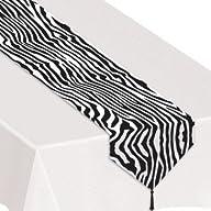 Printed Zebra Print Table Runner Part…