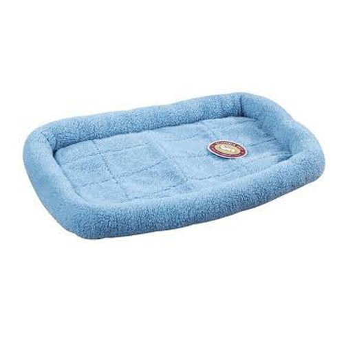 Slumber Pet Sherpa Dog Crate Bed, Small, Sky Blue front-952826