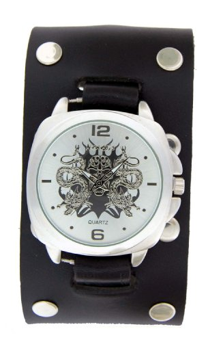 Nemesis Dragon Case with Skull Cuff Watch
