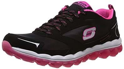 Skechers Sport Women's Skech Air Cross Trainer Sneaker,Black/Hot Pink,6 M US