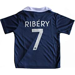 Buy 2014 FRANCE HOME RIBERY 7 FOOTBALL SOCCER KIDS JERSEY by DFB
