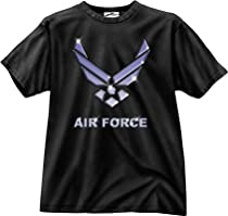 "Black Ink 1-Sided ""Air Force"" Emblem T-Shirt, Medium"