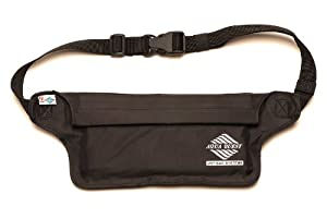 Aqua-Quest 'The Aqua-Roo' Waterproof Money Belt / Waist Bag / Fanny Pack - Black Model