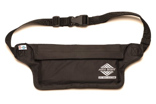 Aqua-Quest Aqua-Quest 100% Waterproof Money Belt/Waist Bag - 'Aquaroo' Black Model