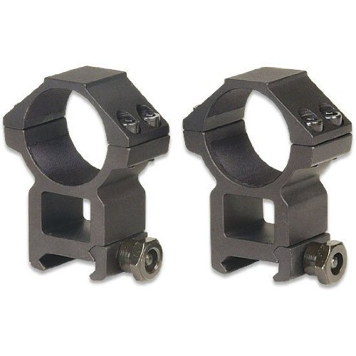 """Ultimate Arms Gear Pro Qd 30Mm High Profile Rifle See Thru Premium Scope Rings (Set Of 2) With 7/8"""" Weaver-Picatinny Base"""