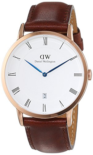 Daniel-Wellington-Herren-Armbanduhr-Analog-Quarz-Leder-DW00100083