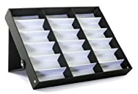 ProSource 18 Piece Sunglass Eyewear Eye Wear Display Tray Case Stand. Also great for Watches and Jewelry
