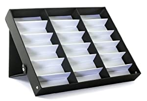 18 Piece Sunglass Eyewear Eye Wear Display Tray Case Stand. Also great for Watches and Jewelry