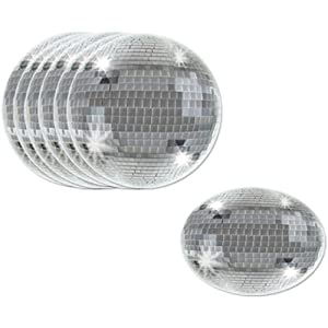 Disco Ball Coasters Party Accessory (1 count) (8/Pkg)