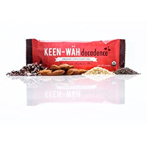 Keen-Wah Decadence Protein Energy Bar (Organic Chocolate Chia) - Case of 12 Bars