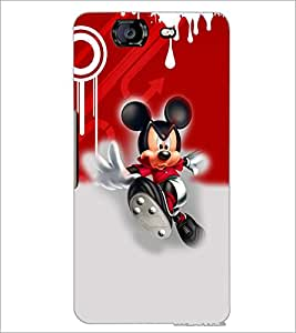 PrintDhaba Running Mickey D-3512 Back Case Cover for MICROMAX A350 CANVAS KNIGHT (Multi-Coloured)