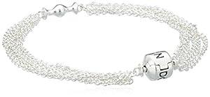 Pandora Damen-Armband Sterling Silber 'Capture' für ein Clip 17 cm 591701-17