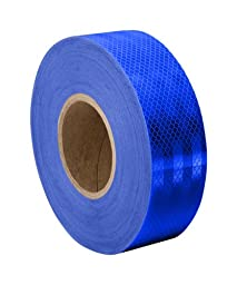 TapeCase Blue Micro Prismatic Sheeting Reflective Tape Converted from 3M 3435, 1.375\