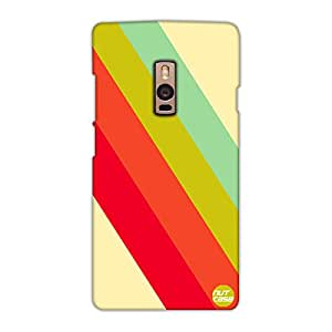 Designer OnePlus Two Case Cover Nutcase - Color Strips