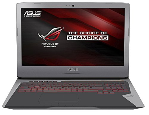Asus ROG-Gaming G752VY-GC088T 43,94 cm (17,3 Zoll FHD) Notebook (Intel Core i7 6700HQ, 16GB RAM, 512GB SDD + 1TB HDD, NVIDIA Geforce GTX 980M, Windows 10 ) silber