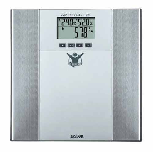 Biggest Loser 5568BL Body Fat-Body Water Scale, Silver and Stainless Steel