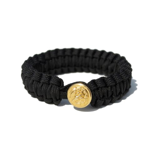 Peace Cords Bracelet - Navy; COLOR: BLACK; SIZE: M