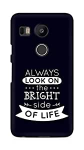 Amez Always look on the Bright Side of Life Back Cover For LG Nexus 5x