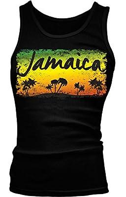 Jamaica - Palm Trees Girls / Juniors Tank Top T-shirt