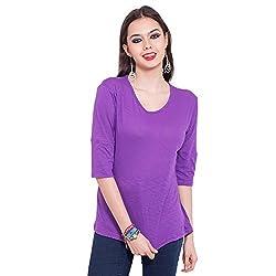 TUNTUK Women's Cairo Top Purple Viscose Top