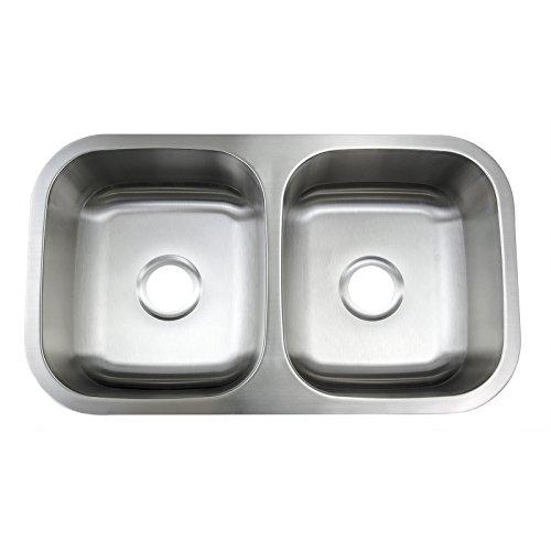 Best Stainless Steel Sinks Gauge : Handmade Top Mount 50/50 Double Bowl Drop In 16 Gauge Stainless Steel ...