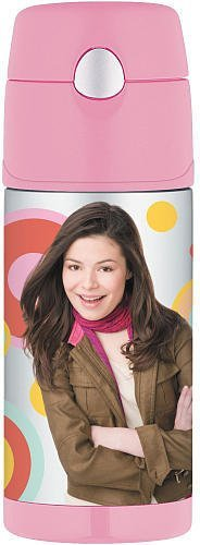 Thermos Icarly Funtainer Bottle, 12 Ounce with Pop up Straw