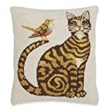 Tabby Cat & Bird Pillow