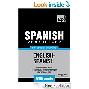 spanish vocabulary for english speakers   3000 words t amp p